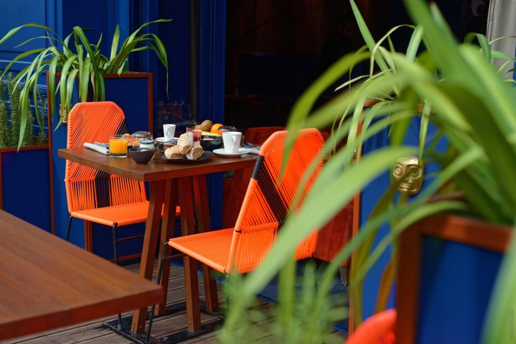 Terrasse Restaurant Hôtel 1K